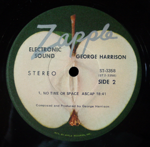 The Zapple label of George Harrison's Electronic Sound LP (US issue)