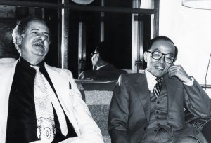 Peter Owen and Shusaku Endo, 1981