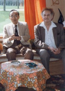 Peter Owen and Shusaku Endo in a caravan! 1985