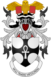 The motto on Sir Terry Pratchett's coat of arms reads: 'Noli Timere Messorem' - Do Not Fear the Reaper.
