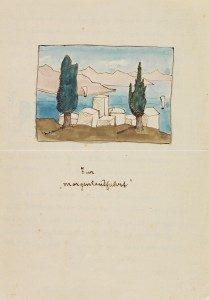 Hermann Hesse's poem – Zur Morgenlandfahrt 1935. Lot 956.