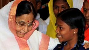 Rekha Kalindi (right) meets Pratibha Patil, former president of India