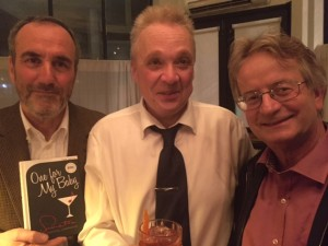 David Munns, chairman of Nordoff Robbins, joins author Tom Smith and Peter Owen's MD Nick Kent at the launch.