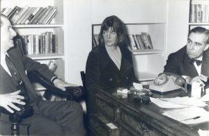 Peter Owen with Elizabeth Smart and John Watson