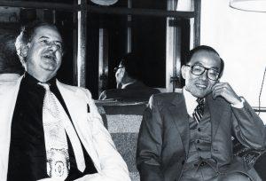 Peter Owen and Shusaku Endo, 1981