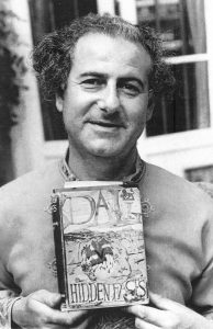 Peter Owen with Dali's illustrated novel, Hidden Faces