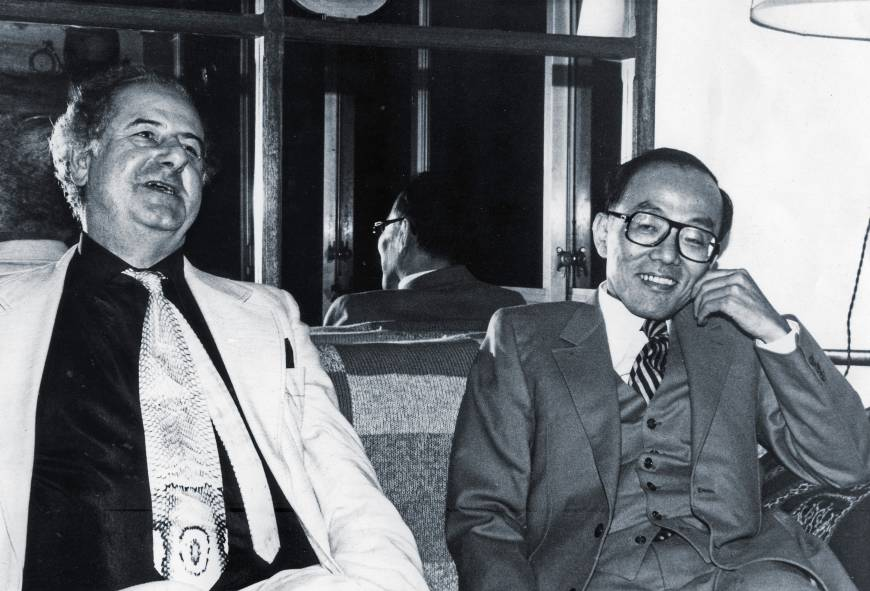 Photograph: Peter Owen and Shusaku Endo (Peter Owen Archive)