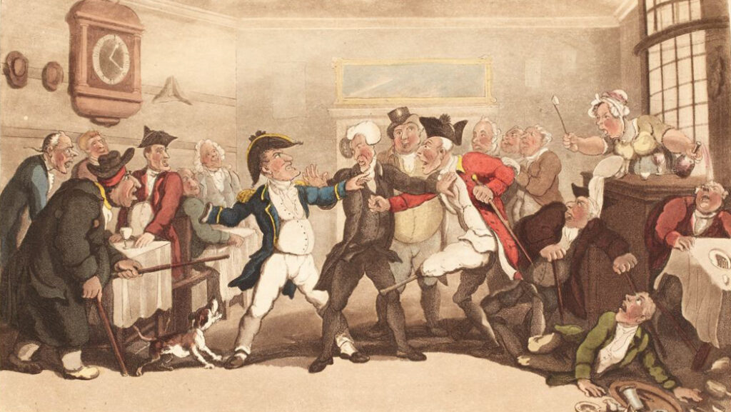 Thomas Rowlandson's Coffee House Quarrel